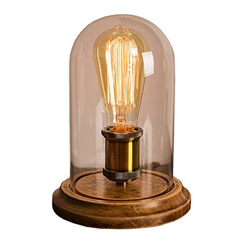 Surpars House Vintage Desk Lamp Glass Shade Table Lamp Edison Bulb Included - llightsdaddy - Surpars House - Table Lamp