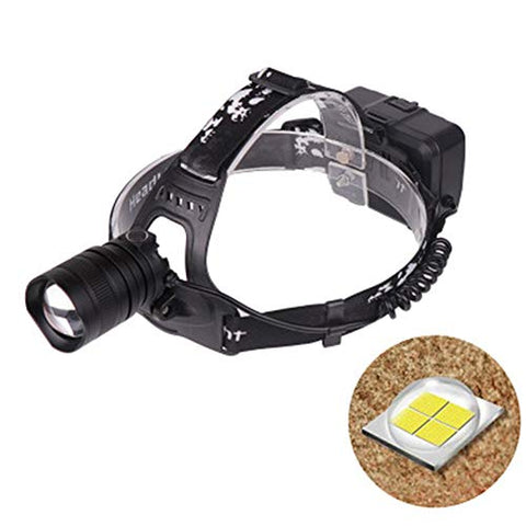 WWWJ Zoom Dimmable LED Outdoor Head Torch, USB Rechargeable Portable Light Aluminum Alloy Headlamp Angle Adjustable - llightsdaddy - WWWJ - Fixture Replacement Globes & Shades