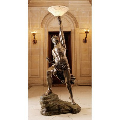 Design Toscano Prometheus Sculptural Floor Lamp - llightsdaddy - Design Toscano - Lamp Shades