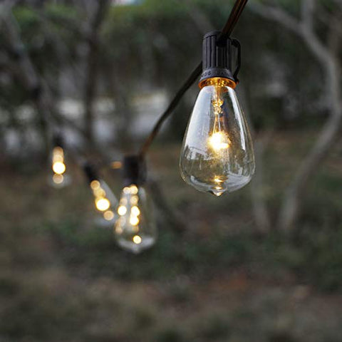 Myhh-Lites Solar String Lights Outdoor, Patio Lights String Waterproof With 10 Classic St38 Led Edsion Bulbs, Perfect For Garden, Backyard, Pergola, Party, Cafe, Bistro, Wedding, Camping DeCoration