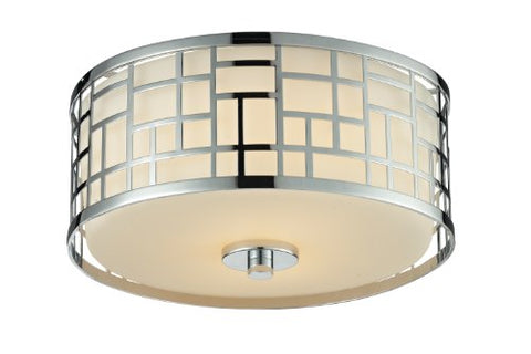 2 Light Flush Mount 328F12-CH