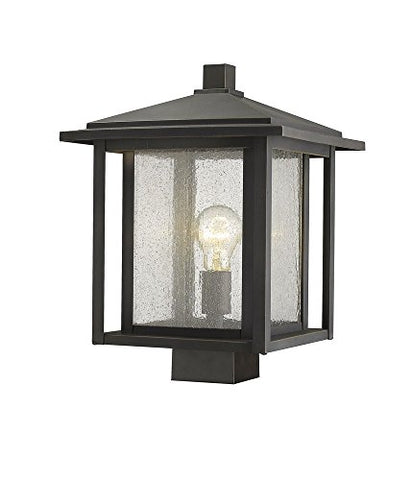 1 Light Outdoor Post Mount Fixture - 554PHBS-ORB  Z-Lite Flush mounts llightsdaddy.myshopify.com lightsdaddy