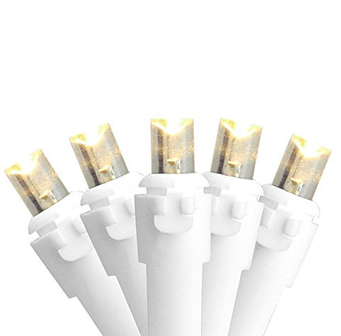 Northlight Set of 100 Warm White LED Wide Angle Christmas Lights - White Wire  Northlight Indoor String Lights llightsdaddy.myshopify.com lightsdaddy