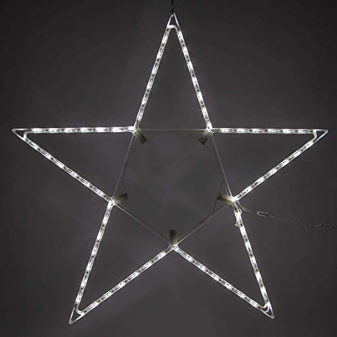 "Kringle Traditions 48"" Lighted Christmas Star Outdoor Star Light, Cool White Led Christmas Star Decoration Folding Outdoor Star Decor"