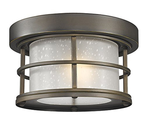 1 Light Outdoor 556F-ORB - llightsdaddy - Z-Lite - Flush mounts
