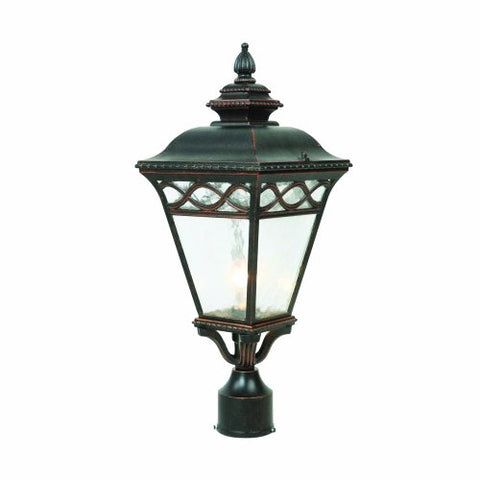Yosemite Home Decor 8088MPIORB 1 Light Exterior with Clear Water Medium Sized Glass, Oil Rubbed Bronze Finish - llightsdaddy - Yosemite Home Decor - Post Lights