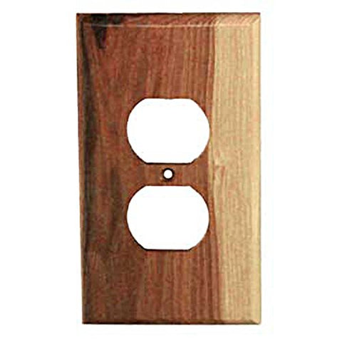 Sierra Lifestyles Traditional Switch Plate, 1 Duplex, Rustic Switch Plate Hickory - llightsdaddy - Sierra Lifestyles - Wall Plates