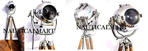 British Studio Searchlight Photography Spot Light Tripod Floor Lamp - llightsdaddy - NAUTICALMART - Lamp Shades