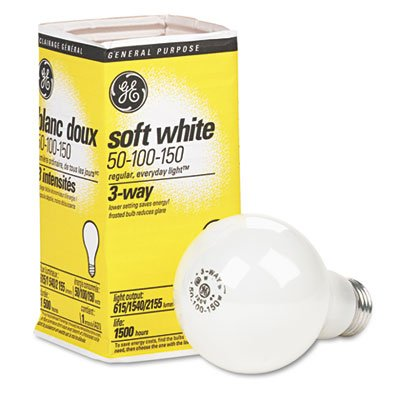 Three-Way Soft White Incandescent Bulb, 50/100/150 Watts GEL41280 - llightsdaddy - GE Lighting - Incandescent Bulbs