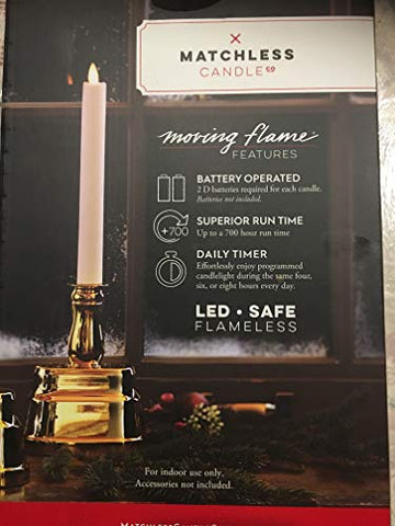 Flameless Candles Battery Operated 2 Pack - llightsdaddy - Matchless Candle Co - Flameless Candles