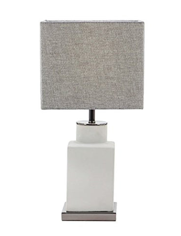 Deco 79 39988 39988 Table Lamp,  Light Gray/Dark Gray