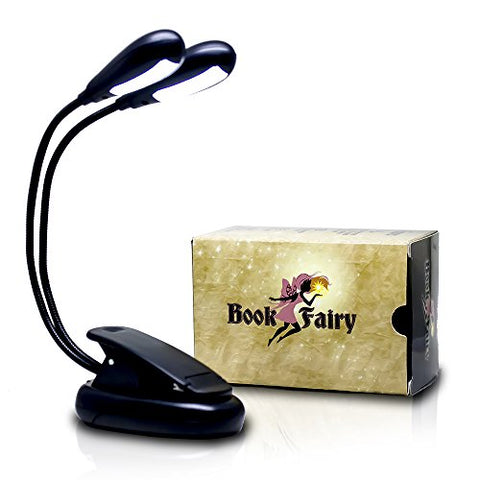 Book Fairy 12 LED Adjustable Reading Light with 4 Brightness Settings | Clip-on Flexible Book Light and Music Stand Light | Perfect Kids Reading Light - llightsdaddy - Book Fairy - Book Lights