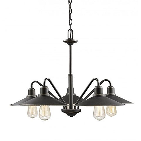 5 Light Chandelier 613-5-OB - llightsdaddy - Z-Lite - Chandeliers