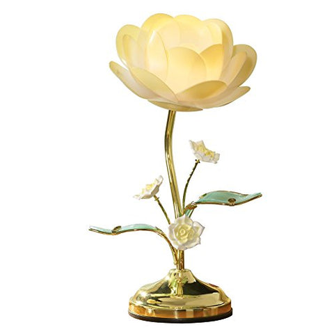 Lotus Flower Table Touch Lamp, Yellow - llightsdaddy - Collections Etc - Lamp Shades