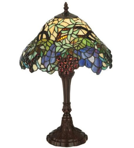 "Meyda Tiffany 125093 Spiral Grape Accent Lamp, 18.5"" Height - llightsdaddy - Meyda Tiffany - Billiard & Pool Table Lights"
