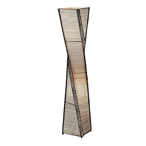 Modern Twist Sculpture Style Floor Lamp Lantern with Beige Shade - llightsdaddy - Fast Furnishing - Lamps