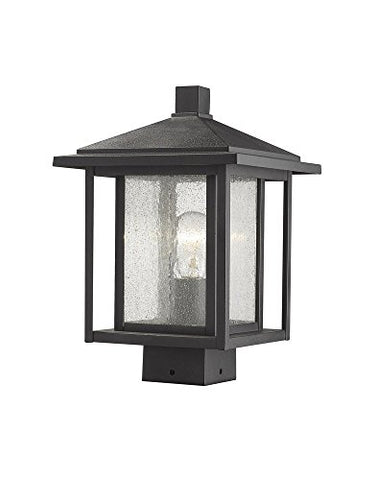 1 Light Outdoor Post Mount Fixture - 554PHMS-BK  Z-Lite Flush mounts llightsdaddy.myshopify.com lightsdaddy
