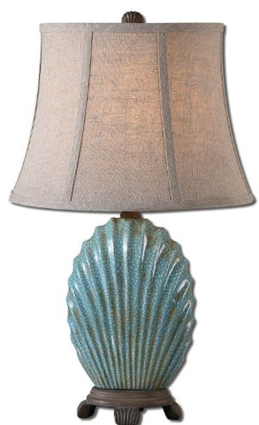 Crackled Blue Seashell Table Lamp Model-29321