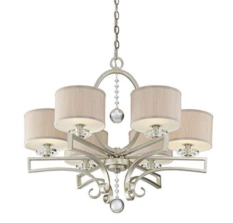 Savoy-House-1-250-6-307,-Rosendal-6-Light-Chandelier,-Silver-Sparkle