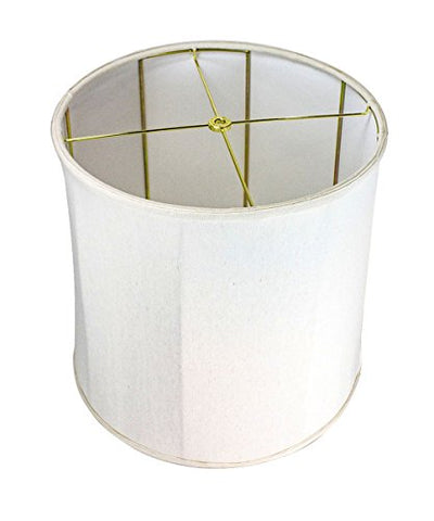 14x15x15 Collapsible Drum Lampshade Premium Light Oatmeal Linen with Brass Spider fitter By Home Concept - Perfect for table and Desk lamps - Medium, Off-White - llightsdaddy - HomeConcept - Lamp Shades
