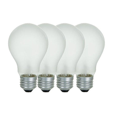 Sunlite 25A/FR/4PK Incandescent 25-Watt, Medium Based, A19 Household Bulb, Frost, 4-Pack - llightsdaddy - Sunlite - Wall Plates