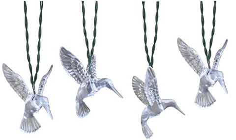 Moonrays 91142 Solar Powered LED Hummingbird String Lights, Clear