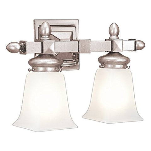 Hudson Valley Lighting 2822-SN Two Light Bath Bracket from the Cumberland collection 2, Satin Nickel - llightsdaddy - Hudson Valley Lighting - Vanity Lights