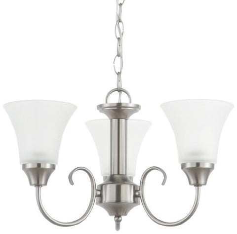 Sea-Gull-Lighting-31806-962-Chandelier-with-Satin-Etched Glass-Shades,-Brushed-Nickel-Finish