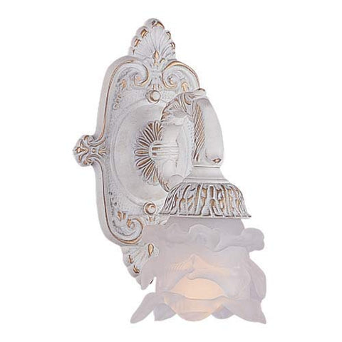 Crystorama 5221-AW Victorian One Light Wall Sconce from Paris Market collection in Whitefinish, 6.00 inches