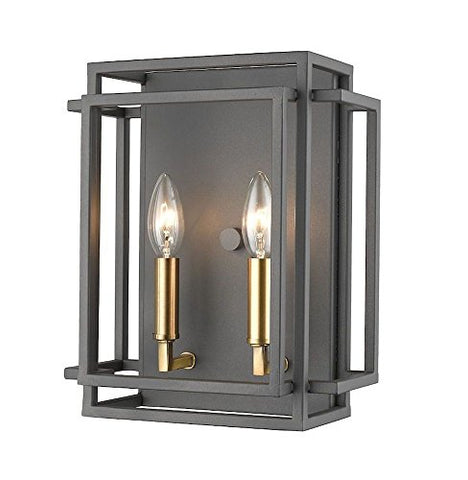 2 Light Wall Sconce - 454-2S-BRZ-OBR