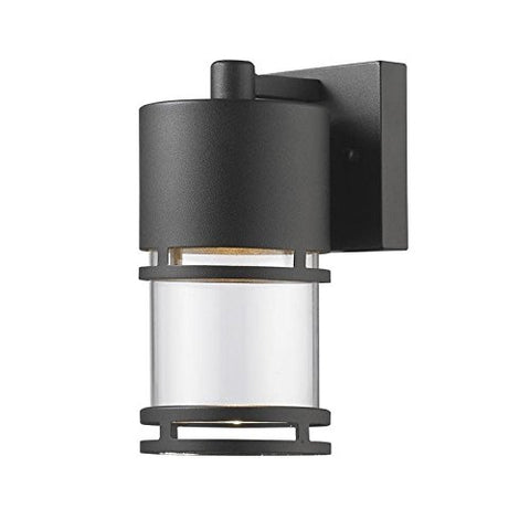 Outdoor LED Wall Light 553S-BK-LED