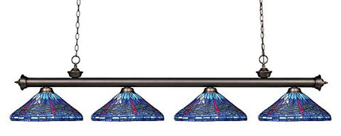 4 Light Billiard Light 200-4OB-D16-1 - llightsdaddy - Z-Lite - Billiard & Pool Table Lights