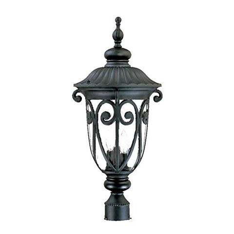 Acclaim 2127BK Naples Collection 3-Light Post Mount Outdoor Light Fixture, Matte Black