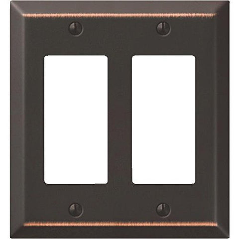 Jackson-Deerfield Mfg. 9AZ127 Antique Bronze Steel Decorator Wall Plate - llightsdaddy - AmerTac - Wall Plates