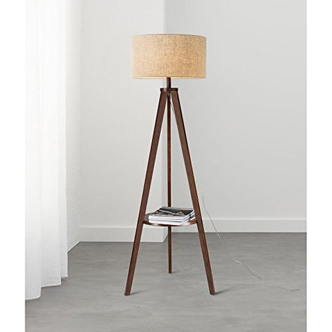 Floor Lamp Living Room Simple Modern Nordic Bedroom Vertical Table Lamp Creative Solid Wood European Style Tea Light ( Color : White , Size : Wood color panel ) - llightsdaddy - PM Floor lamp - Table Lamp