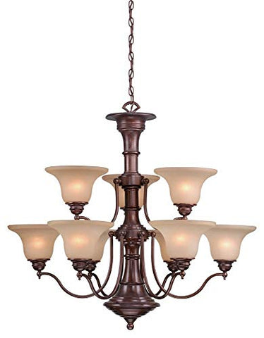 Vaxcel-CH30309RBZ-Standford-9-Light-Chandelier,-Royal-Bronze-Finish