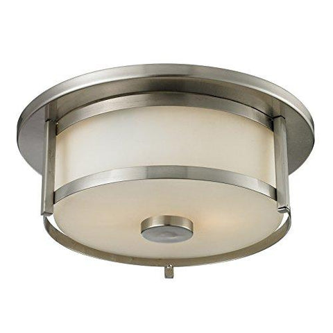 Z-Lite 412F11 2 Light Flush Mount, Brushed Nickel - llightsdaddy - Z-Lite - Under-Cabinet Lights