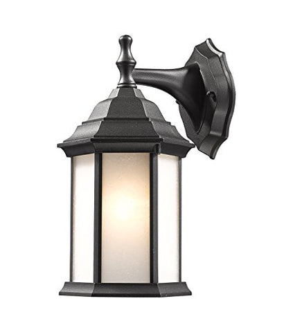 1 Light Outdoor Wall Light T21-BK-F - llightsdaddy - Z-Lite - Outdoor Porch & Patio Lights