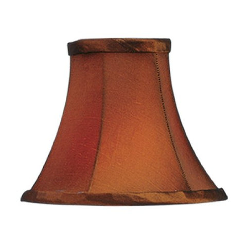 "Livex Lighting S220 Bell Clip Chandelier Shade, 1"" x 1"" x 1"", Brown Silk"