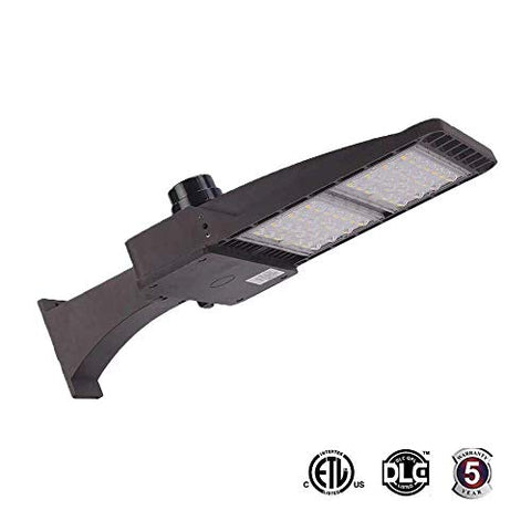 200W LED Parking Lot Lights, 26000LM 5000K (800W HID/HPS Replacement) Outdoor Commercial Area Street Security Lighting Fixture, IP65 Waterproof, Arm Mounted ETL and DLC Listed