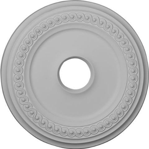 "Ekena Millwork CM19CL Classic Ceiling Medallion, 18 5/8""OD 4""ID x 1 1/8""P (Fits Canopies up to 12 3/4""), Factory Primed"