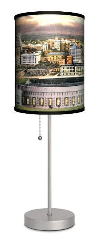 Travel - Cleveland Stadium Postcard Sport Silver Lamp