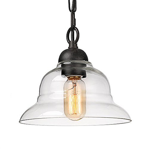LALUZ 1-Light Pendant Lighting with Glass Shade