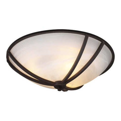 PLC Lighting 14864 ORB 3-Light Ceiling Light Highland Collection