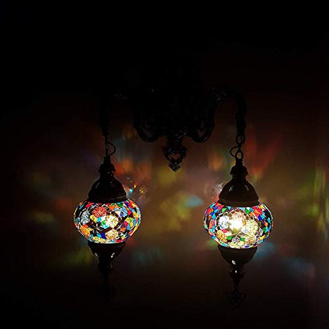 Turkish Moroccan Style Mosaic Wall Light Lamp - US Seller_MC16_Double Wall Light