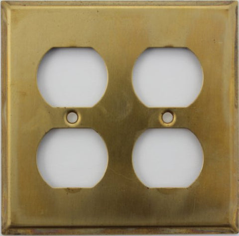 Raw Unfinished Brass 2 Gang Duplex Outlet Wall Plate - 2 Duplex - llightsdaddy - Classic Accents - Lightning Fixtures