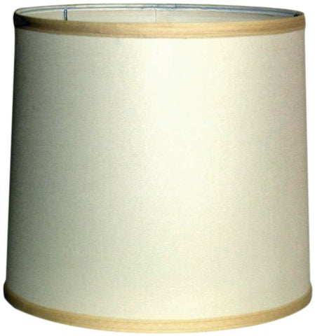 "A Ray Of Light 121312OFF Linen Drum Shande, Off White, 12"" x 12"" x 13"" - llightsdaddy - A Ray Of Light - Lamp Shades"