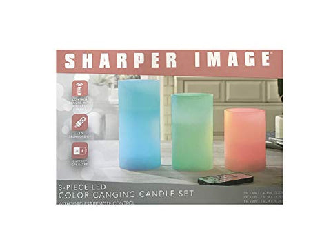 Sharper Image 3-Piece LED Color Changing Candle Set (with Wireless Remote Control) - llightsdaddy - MerchSource, LLC - Flameless Candles