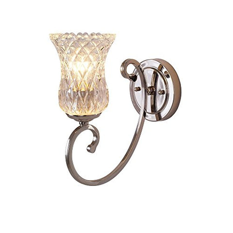 Alsy 1-Light Polished Nickel Wall Sconce
