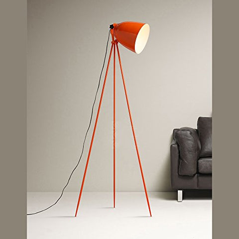 Nordic design orange tripod tricycle work office floor lamp bedroom living room desk study simple - llightsdaddy - WINZSC - Lamp Shades